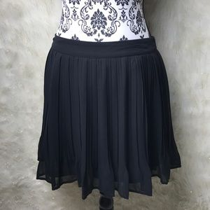 Candies Black Tiny pleat Skirt
